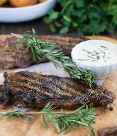 NY Strip Steak with Horseradish Mustard Sauce