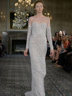 Mira Zwillinger's Shimmering Wedding Dresses Are Inspired by Stardust for Spring 2016 | TheKnot.com