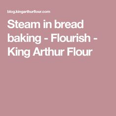 Steam in bread bakin