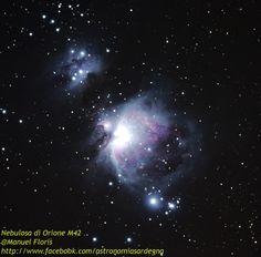 Nebulosa di Orione M42 ripresa con un piccolo telescopio 80ED