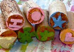 Wine cork stamps!