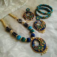 Silk Thread Earrings Designs, Silk Thread Necklace, Thread Bangles Design, Beaded Necklace Patterns, Silk Thread Bangles, Thread Jewellery, Fabric Jewelry, Jewelry Patterns, Beaded Earrings