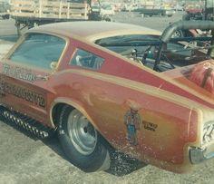 Slingshot mustang dragster funny car
