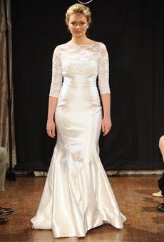 Sarah Jassir - Spring 2013 Modest Wedding Dress with Lace 3/4 length sleeves