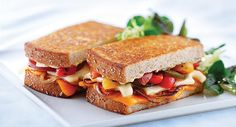 Grilled Cheese Month is my favorite month of the year. Here's another reason to love this month! You can enter one of five $75 Cabot Cheese Gift Boxes at http://cabotcheese.coop/grilledcabot