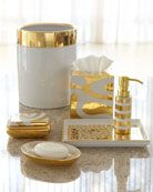 -3SY0 Waylande Gregory Porcelain & Gold Vanity Accessories