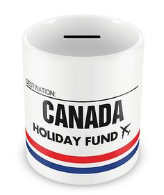 Canada #holiday fund money box - gift idea travelling #savings #piggy bank,  View more on the LINK: 	http://www.zeppy.io/product/gb/2/321519460795/