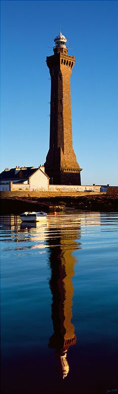 Point Penmarc'h Light or Saint-Pierre Light, in Penmarc'h, #Brittany #France #lighthouse