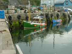 A fishing boat in Mevagissey Harbour