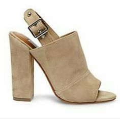 Steve Madden Pasqual Natural suede, only worn once. Box included but lid is missing Steve Madden Shoes Mules & Clogs