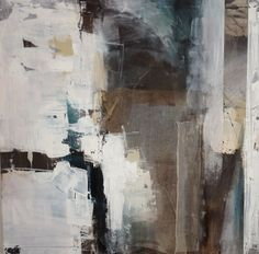 Rita Mester, Collage Abstrakt, 100 x 100 cm, Mischtechnik