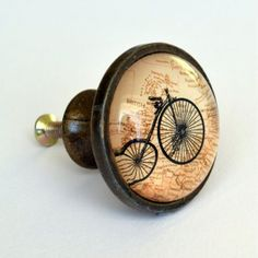 Penny Farthing Drawer Knob Bicycle Bike Vintage Brass Cupboard Door Handle in | eBay