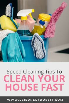 Sometimes, life gets in the way and you can't quite keep up with your regular cleaning routine. Deep Cleaning Lists, Household Cleaning Schedule, Speed Cleaning, Cleaning Checklist, House Cleaning Tips, Diy Cleaning Products, Spring Cleaning, Cleaning Hacks, Cleaning Supplies
