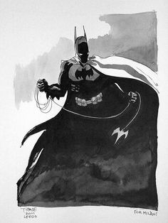 Tim Sale - Batman sketch Comic Art