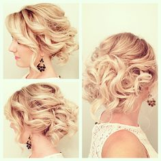 Messy textured updo