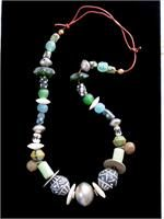 Old African Trades Beads Necklace