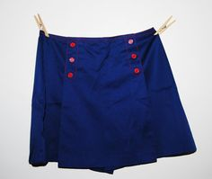 Vintage Mini Scooter Split Skirt / Culotte by CheekyVintageCloset, $14.50
