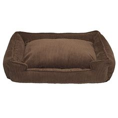 Jax and Bones  48 x 40 x 12-Inch Corduroy Lounge Dog Bed, X-Large, Chocolate *** Find out more about the great product at the image link.