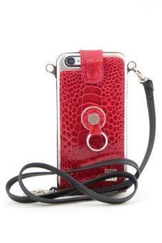 #funda nuevo diseño #newin #iphone6 #iphone6s #iphone6plus #iphone6splus #finger360 #piel #patadeavestruz #cordon rojo