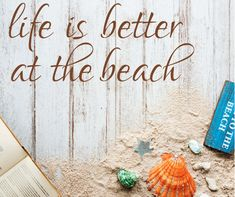 Life is better at the beach vinyl wall decal sticker Beach lovers wall Decor Beach house decor wall decal/ Life is better at the River Lake by ArtsyWallsAndMore on Etsy