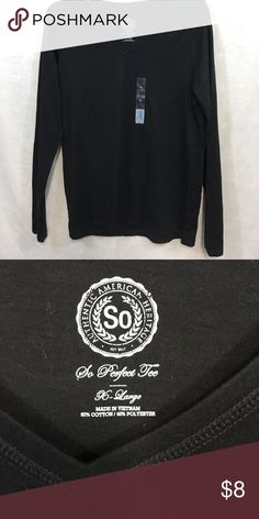 🆕 So Clothing V-neck Long Sleeve Tee 60% Cotton, 40% Polyester.                                    💯 Brand authentic.                                                 🖲 Use offer button to negotiate.                          ✅ Bundle for discount SO Tops Tees - Long Sleeve