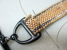 How to Fold Peyote Stitch Over a Clasp