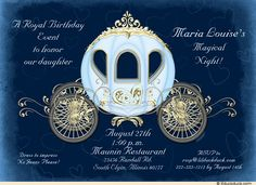 Royal Fairytale Teen Gala Invitation - Party Magic Cinderella Carriage