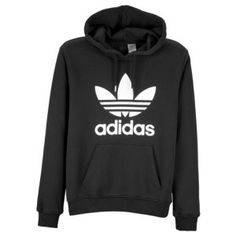 adidas Originals Trefoil Pull Over Hoodie - Mens - Casual - Clothing - Black/White
