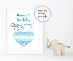 First Birthdays Boy Birthday Gifts Godchild Gift Scribe Check Out This Item In My Etsy Shop