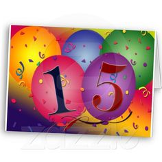 Happy 15th Birthday Greeting Cards - sold to Swansea