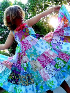 patchwork sundress by Monsoons and Mangoes, via Flickr