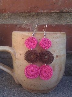 FREE shipping  pink and brown crochet chandelier by royaboya, $14.00