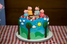 Cute Peppa Pig girl birthday party cake!  See more party ideas at CatchMyParty.com!