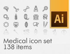 """Check out this @Behance project: """"Medical stroke icon set"""" https://www.behance.net/gallery/31141465/Medical-stroke-icon-set"""