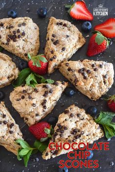 Chocolate Chip Scones - Lord Byron's Kitchen Lemon Coconut, Lemon Butter, Baked Pork, Baked Chicken, Date And Walnut Loaf, Basic Scones, Rhubarb Muffins, Butter Pasta, Chocolate Flavors