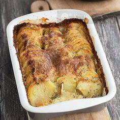 Ziemniaki zapiekane z ziołami i serkiem mascarpone Polish Recipes, Polish Food, Lasagna, Quiche, Pork, Potatoes, Meat, Cooking, Breakfast