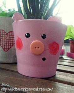 DIY Flower Pot Piggy