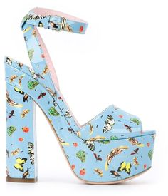 Pin for Later: Make Like Sophia Webster in These Fun Spring Sandals Giamba Butterfly Print Platform Sandals Giamba Butterfly Print Platform Sandals (£483)