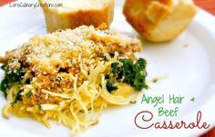 Hamburger Pasta Casserole recipe. Easy one dish dinner meal.
