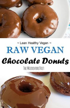 Raw Vegan Chocolate Peanut Butter Donuts ~ Raw Food Detox | The Microvore Diet | Fruit. Fat. Forage.