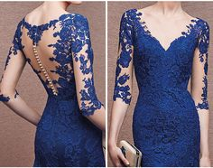 PRODUCT DETAILS*People will get dazzled at this formal long dress in its lace and illusion tone. It is the best prom dress and evening dress in 2015.*The dress features the sheer bodice and mermaid il..