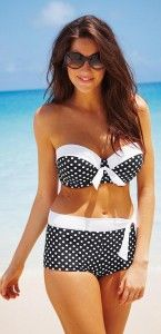 two piece swimsuits for women over 40 60 60 - yes I have a 60 yr old friend who wears something like this and looks great (not me) - CLICK TO READ AT http://boomerinas.com/2011/12/two-piece-swimsuits-for-older-women-over-40-50/