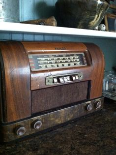 Old Philco radio I bought Bill for Father's Day. It's works!