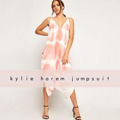 f47b4d732012 Kylie Tie Dye Strappy Lagenlook Harem Jumpsuit. WearAll.com