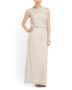 Crochet Blouson Maxi Dress