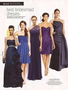 best bridesmaids dresses in sapphire - the knot