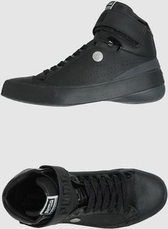 b2588a67f7a896 Men s Black High-top Sneaker. Lyst