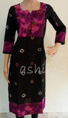 Code:1511162 - Bandhini Cotton kurti, Price INR:1090/-