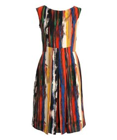 This Red & Blue Brushstroke Tempest Dress by CeMe London is perfect! #zulilyfinds