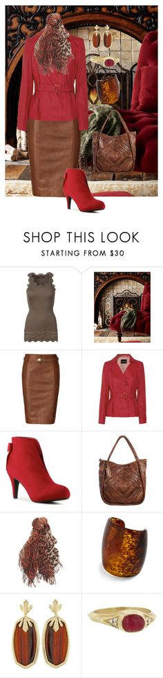 Warming Up For Autumn by parmelia on Polyvore featuring Rosemunde, Giorgio Armani, Polo Ralph Lauren, Impo, Monserat De Lucca, Kendra Scott, Ten Thousand Things, Mulberry and Neiman Marcus